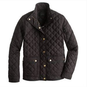 J. Crew Factory Quilted Black Puffer Jacket